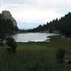 We hiked by the Cimarroncito Reservoir on our way down to Clark's Fork, our destination for the evening.