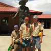Mario, Travis and Garrett at the Boy Scout Statue.