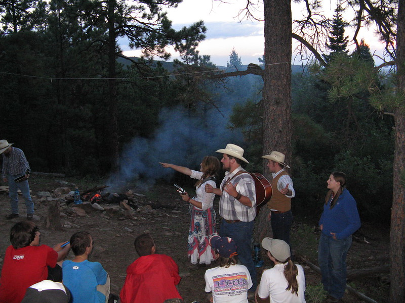 The staff put on a really good campfire program at Clark's Fork. Lots of music and skits.