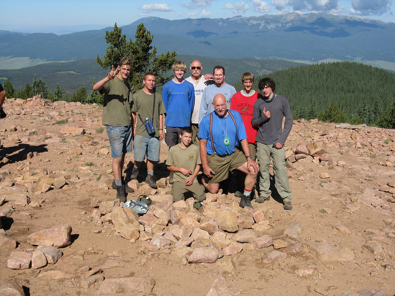 Troop 679 expedition 803-A at the summit.