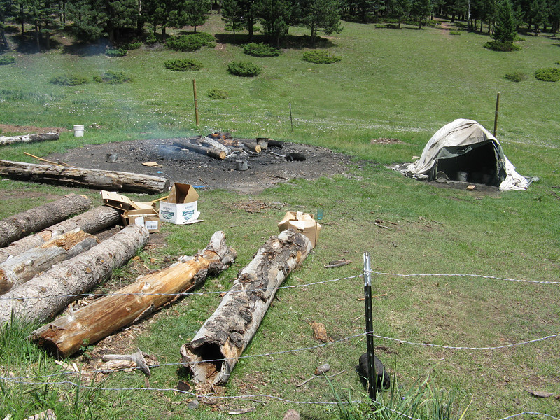 Our next activity for the day was Sweat Lodge.