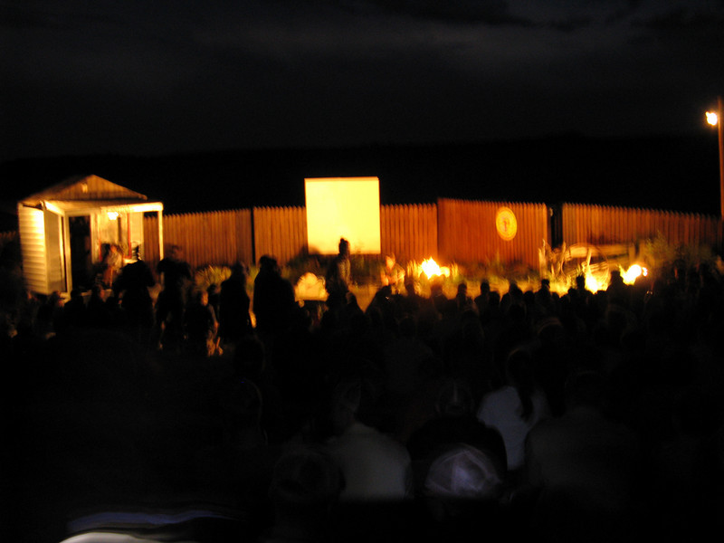 The staff put on a ceremony that told the history of Philmont.