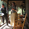 Fish Camp staff in 1920's attire. They acted as they were the Phillip's family and guests while they showed us around the cabin.