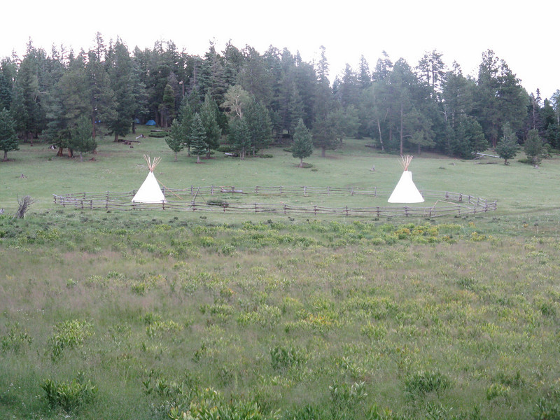Apache Springs had two tipis.