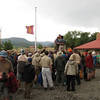 The Philmont Flag at half mast to honor the scouts killed in a tornado at a different scout camp earlier in the year.