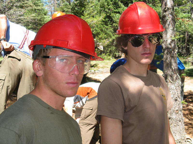 Ian and Alex dig their hard hat look.