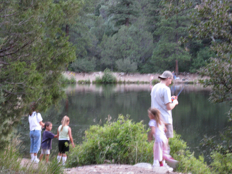Lots of people trying to catch fish.