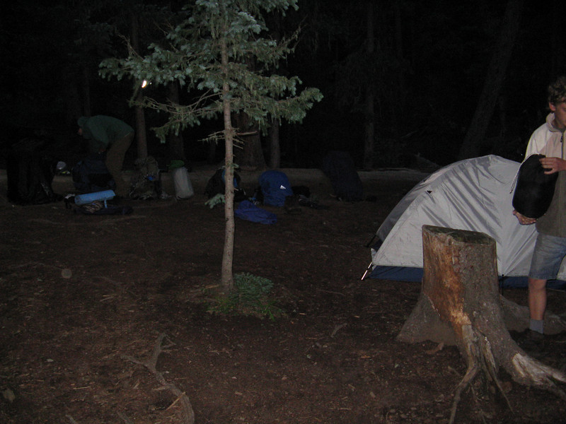 Back at our camp site for the night.