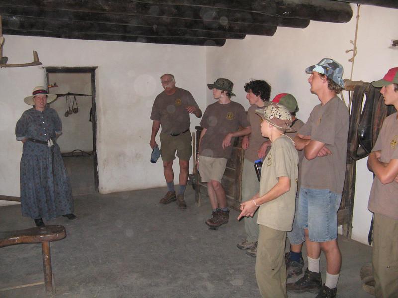 We got a tour of the hacienda. Very spartan furnishings.