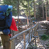 Crossing the bridge over the Cimarroncito Creek to Cypher's Mine.