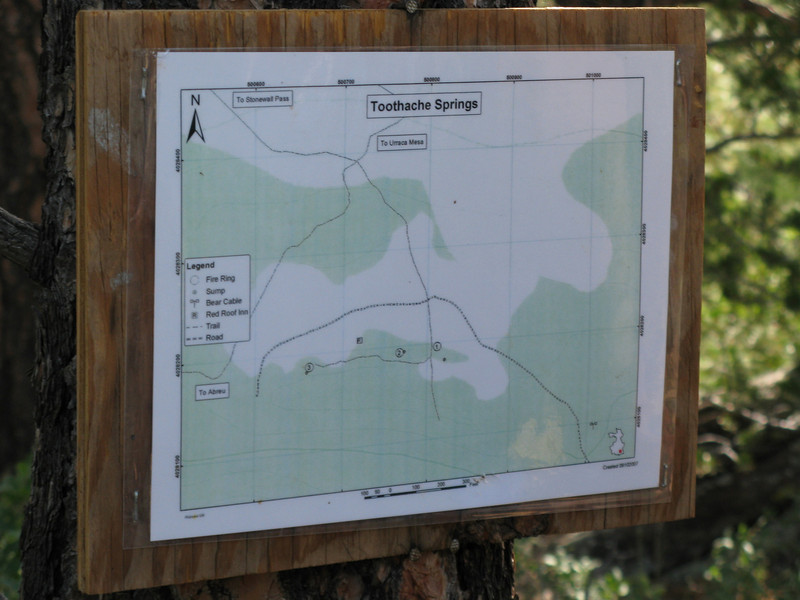 Arriving at our campsite is another map of the area.