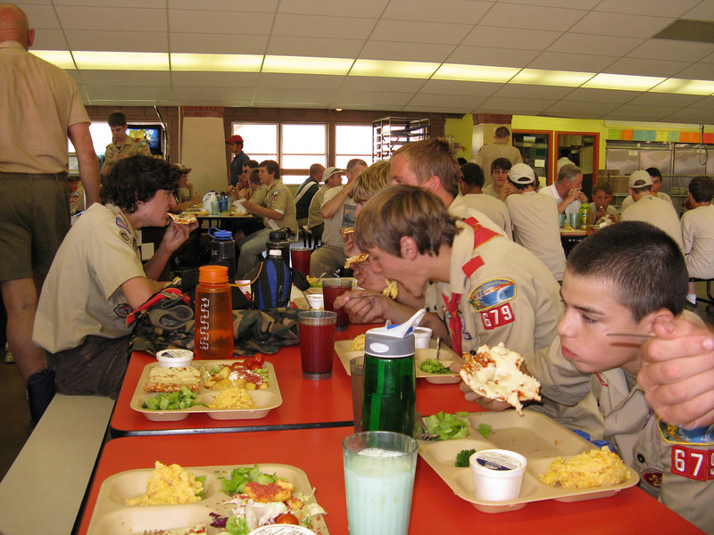 Lunch in the Dining Hall. The food was pretty basic, but it was better than what we ate on the trail.