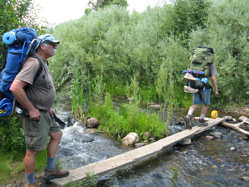 Crossing the Rayado River.