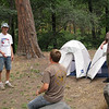 Garrett, Ian and Alex have their tents set up.