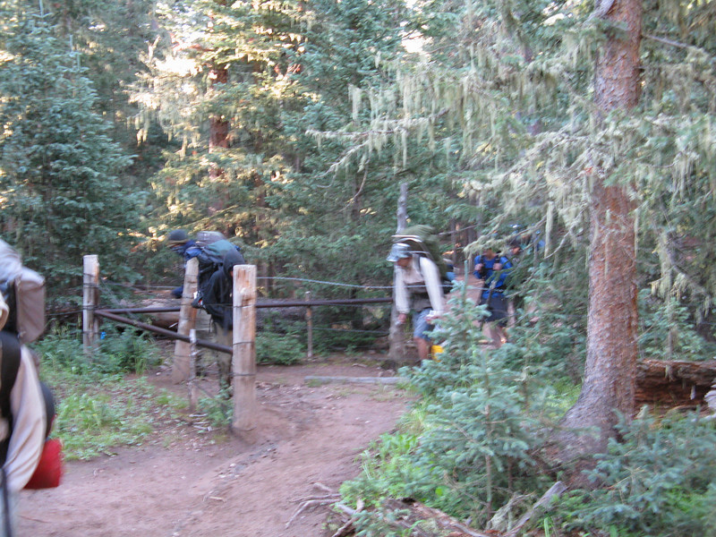 Beyond this gate is outside Philmont property.