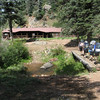 Coming up to the Fish Camp lodge. Mr. Phillips had this beautiful cabin built next to the river as a fishing lodge.