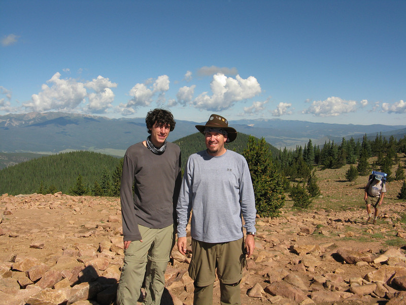 Alex and Bruce at the highest point on the trek.