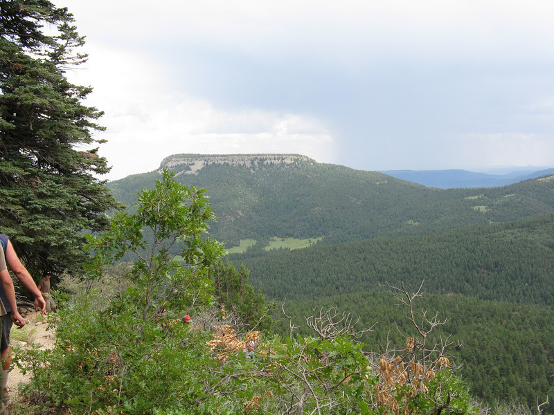 Urraca Mesa, Stonewall pass on the right and the meadow at Lover's Leap in the middle.