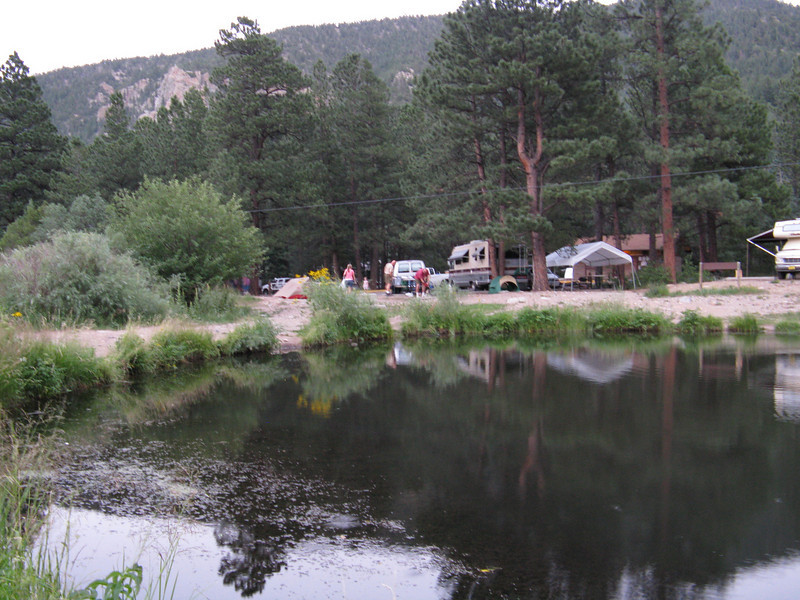 Looking back at the campground. Our spots were right on the lake. I booked the camp sites the day reservations opened 6 months prior.