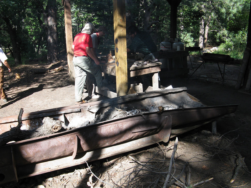 One of the activities at Clark's Fork was boot branding. I had them brand my wool hat. The smell of burnt wool permeated my existence for the next couple of days whenever I wore my hat.