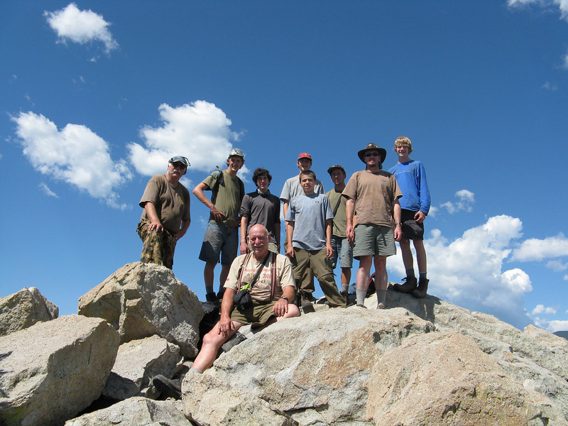 Troop 679 on the Tooth of Time.