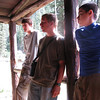 Travis, Ian and Mario listen to our hosts talk about the history of the Fish Camp.