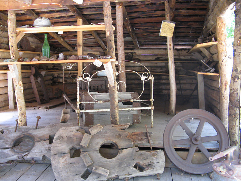 A small museum of old, original mining equipment.
