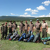 The crew ready to start our Philmont trek. Mario, Ian, Bruce, Alex, Thomas, Travis, Garrett, Bill and David.