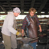 This blacksmithing is fun, but lots of skill and technique are required, and that comes from practice and experience.