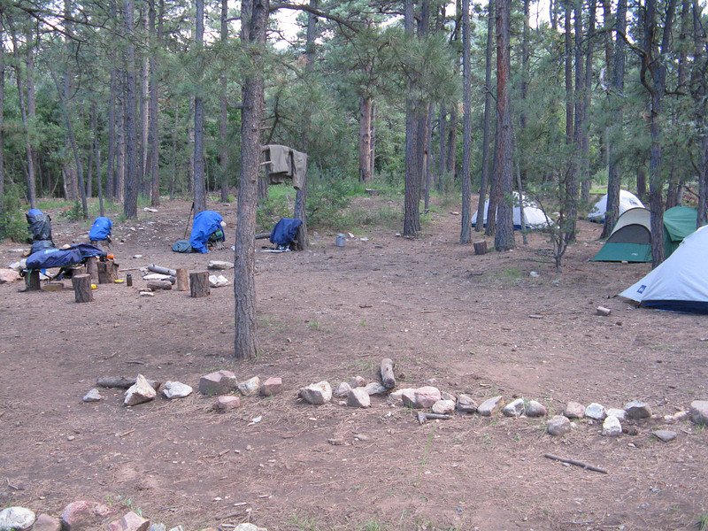 Our campsite at Clark's Fork.