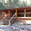 Nice big porch at Cypher's Mine staff cabin.