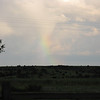 A tiny rainbow after the big storm.