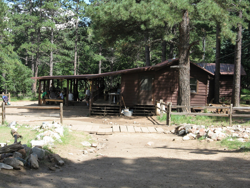 The staff cabin at Clark's Fork.