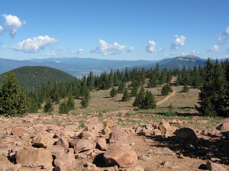 On Mt. Phillips looking west towards Angel Fire.