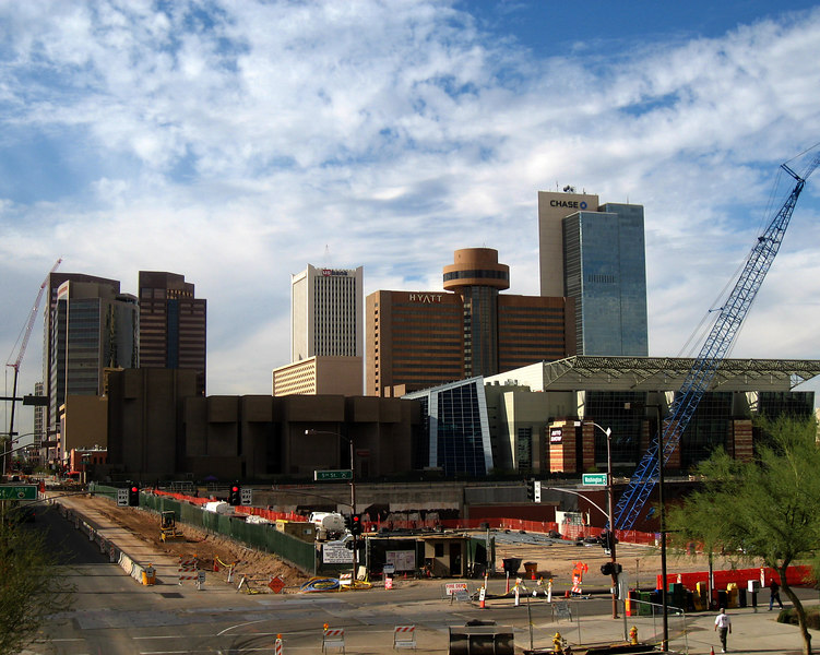 Downtown Phoenix - construction everywhere!