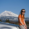 The trip down - Mt. Shasta & Rachel