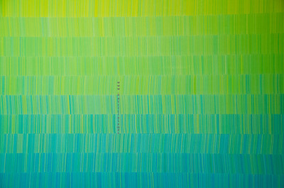 green blue stripe wall 7427