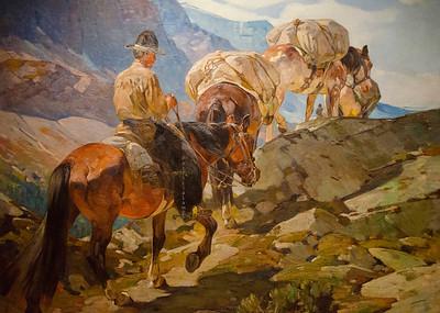 Cowboy painting 7497