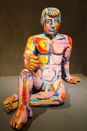 Painted ceramic man C7480