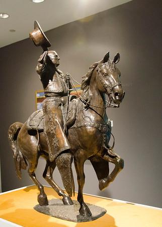 Bronze Horse & rider 7490