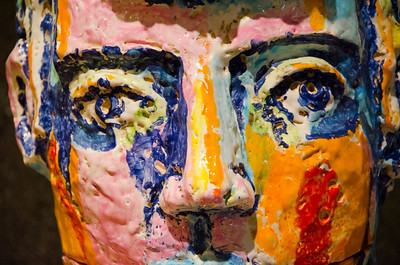 painted ceramic face closeC7473