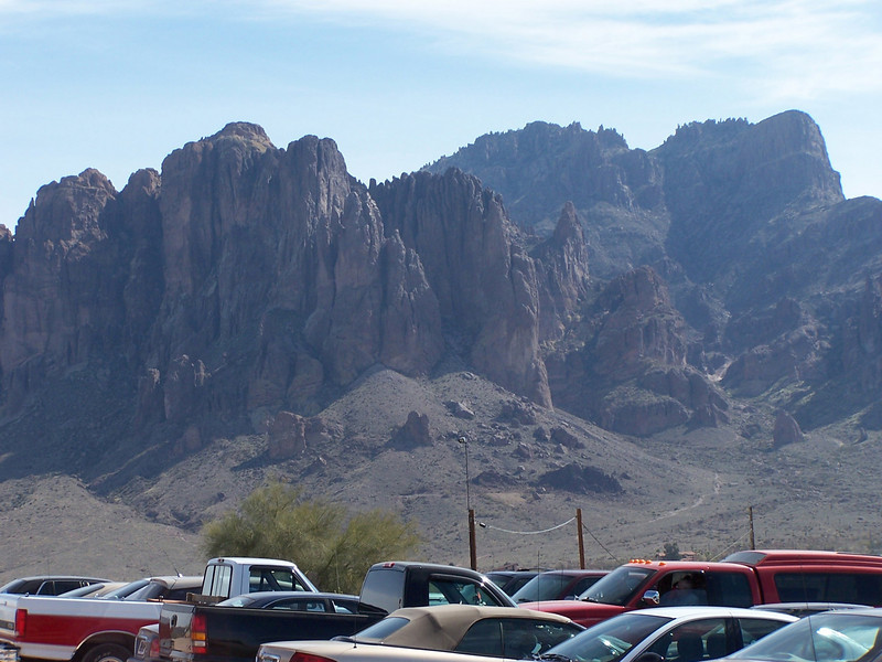 Checking out the mountains near an old mining town in Phoenix.
