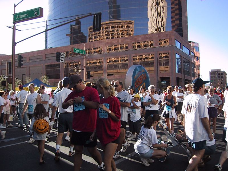 Race for Cure in downtown Phx, October 2001