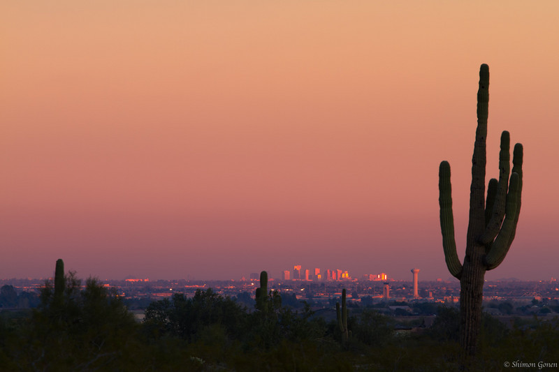 Downtown Phoenix from afar