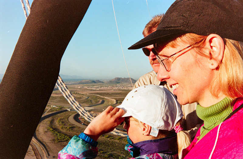 Balloon Ride Dawn Sedona April 1997