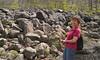Haycock Mountain, Bucks County PA  -  Becky on our last hike  - 4/11/2012