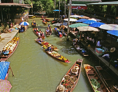 Damnoen Saduak Floating Market, Thailand-2000