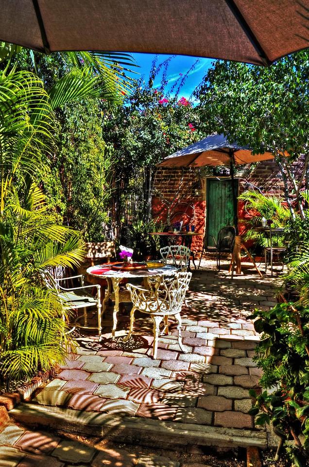 Garden cafe, Casa Dahlia Gallery, San Jose Del Cabo