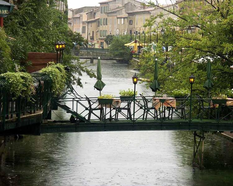 Restaurant on Bridge, L'Isle-Sur-La-Sorgue, Provence