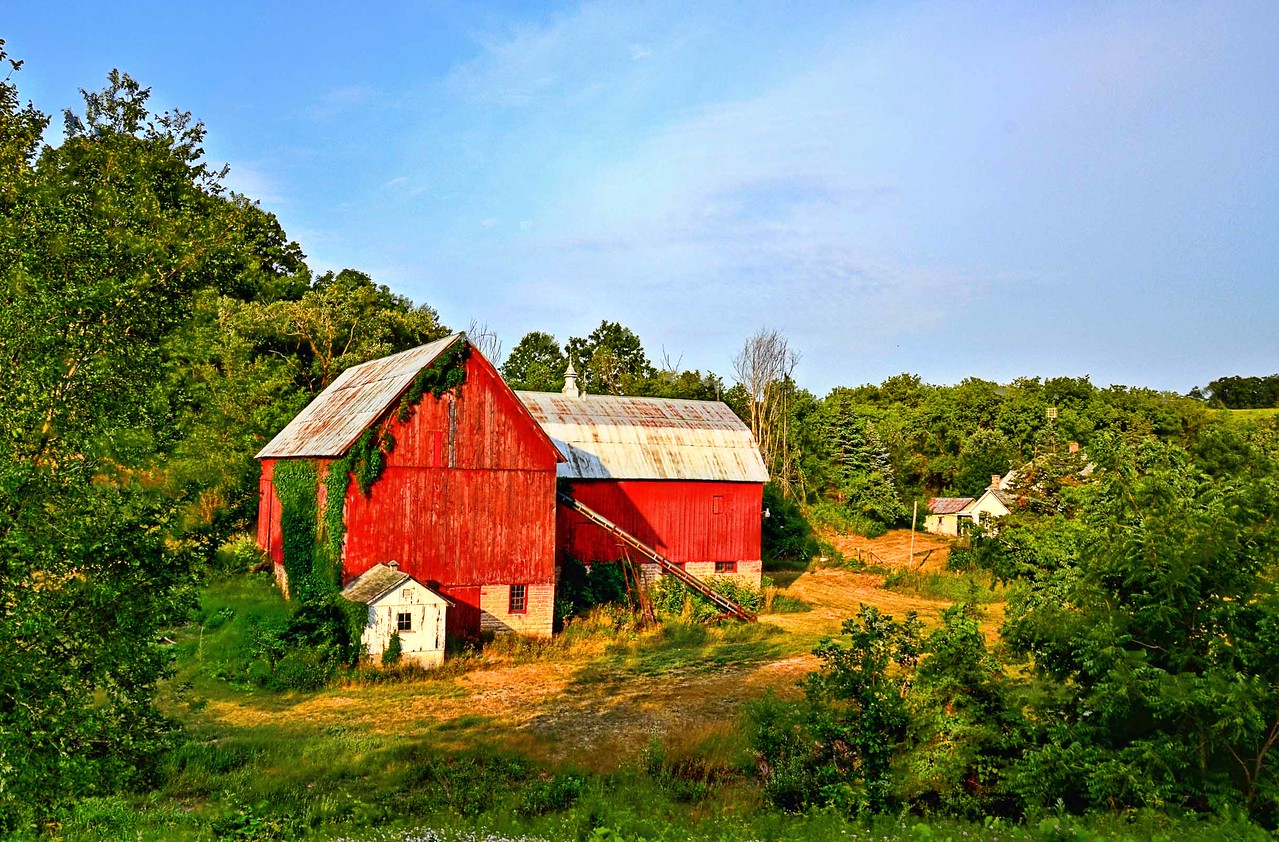 Old barn near Basswood, Wisconsin.